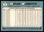 2014 Topps Heritage #14  Brian Roberts  Back Thumbnail