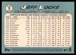 2014 Topps Heritage #19  Jeff Locke  Back Thumbnail