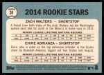 2014 Topps Heritage #24   -  Ehire Adrianza / Zach Walters Rookies Back Thumbnail