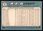 2014 Topps Heritage #34  A.J. Burnett  Back Thumbnail