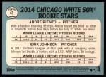 2014 Topps Heritage #41   -  Andre Rienzo / Erik Johnson White Sox Rookies Back Thumbnail