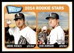 2014 Topps Heritage #41   -  Andre Rienzo / Erik Johnson White Sox Rookies Front Thumbnail