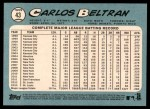 2014 Topps Heritage #43 WHT Carlos Beltran  Back Thumbnail