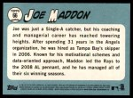 2014 Topps Heritage #66  Joe Maddon  Back Thumbnail
