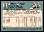 2014 Topps Heritage #72  Homer Bailey  Back Thumbnail