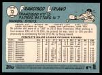 2014 Topps Heritage #73  Francisco Liriano  Back Thumbnail