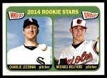 2014 Topps Heritage #74   -  Charlie Leesman / Michael Belfiore Rookies Front Thumbnail