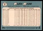 2014 Topps Heritage #85  Alex Rios  Back Thumbnail