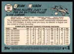 2014 Topps Heritage #101  Brian Wilson  Back Thumbnail