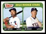 2014 Topps Heritage #104   -  Joey Butler / Jim Adduci Rangers Rookies Front Thumbnail