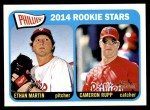 2014 Topps Heritage #107   -  Ethan Martin / Cameron Rupp Phillies Rookies Front Thumbnail