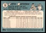 2014 Topps Heritage #108  Justin Masterson  Back Thumbnail
