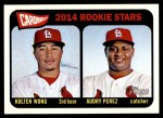 2014 Topps Heritage #116   -  Kolten Wong / Audry Perez Cardinals Rookies Front Thumbnail