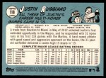 2014 Topps Heritage #118  Justin Ruggiano  Back Thumbnail