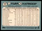 2014 Topps Heritage #122  Tyler Chatwood  Back Thumbnail