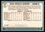 2014 Topps Heritage #137   World Series Game #6 - Champs for Third Time in Decade Back Thumbnail