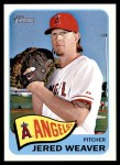 2014 Topps Heritage #140 A Jered Weaver  Front Thumbnail