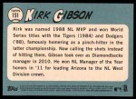 2014 Topps Heritage #151  Kirk Gibson  Back Thumbnail