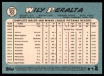 2014 Topps Heritage #163  Wily Peralta  Back Thumbnail