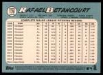 2014 Topps Heritage #179  Rafael Betancourt  Back Thumbnail