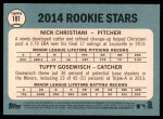2014 Topps Heritage #181   -  Tuffy Gosewisch / Nick Christiani Rookies Back Thumbnail