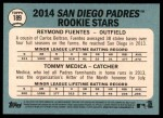 2014 Topps Heritage #189   -  Tommy Medica / Reymond Fuentes Padres Rookies Back Thumbnail