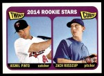 2014 Topps Heritage #201   -  Zach Rosscup / Josmil Pinto Rookies Front Thumbnail