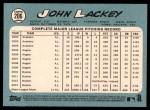 2014 Topps Heritage #206  John Lackey  Back Thumbnail