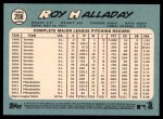 2014 Topps Heritage #208  Roy Halladay  Back Thumbnail