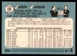 2014 Topps Heritage #209  Jason Vargas  Back Thumbnail