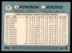 2014 Topps Heritage #211  Bronson Arroyo  Back Thumbnail