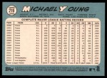 2014 Topps Heritage #219  Michael Young  Back Thumbnail