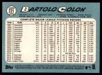2014 Topps Heritage #221  Bartolo Colon  Back Thumbnail