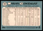 2014 Topps Heritage #223  Miguel Gonzalez  Back Thumbnail