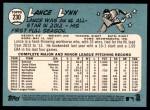 2014 Topps Heritage #230  Lance Lynn  Back Thumbnail