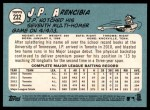 2014 Topps Heritage #232  J.P. Arencibia  Back Thumbnail
