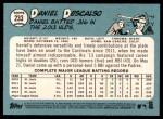 2014 Topps Heritage #233  Daniel Descalso  Back Thumbnail