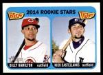 2014 Topps Heritage #243   -  Nick Castellanos / Billy Hamilton Rookies Front Thumbnail