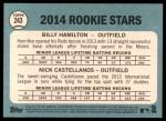 2014 Topps Heritage #243   -  Nick Castellanos / Billy Hamilton Rookies Back Thumbnail