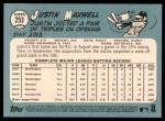 2014 Topps Heritage #253  Justin Maxwell  Back Thumbnail