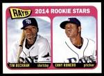 2014 Topps Heritage #259   -  Tim Beckham / Enny Romero Devil Rays Rookies Front Thumbnail