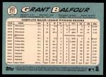 2014 Topps Heritage #271  Grant Balfour  Back Thumbnail