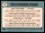 2014 Topps Heritage #273   -  Chad Bettis / David Holmberg Rookies Back Thumbnail