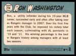 2014 Topps Heritage #274  Ron Washington  Back Thumbnail