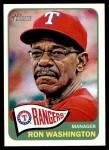 2014 Topps Heritage #274  Ron Washington  Front Thumbnail
