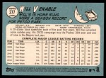 2014 Topps Heritage #277  Will Venable  Back Thumbnail