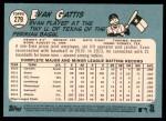 2014 Topps Heritage #279  Evan Gattis  Back Thumbnail