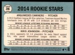 2014 Topps Heritage #286   -  Arquimedes Caminero / Kris Johnson Rookies Back Thumbnail
