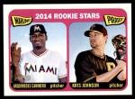 2014 Topps Heritage #286   -  Arquimedes Caminero / Kris Johnson Rookies Front Thumbnail