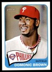 2014 Topps Heritage #310 A Domonic Brown  Front Thumbnail